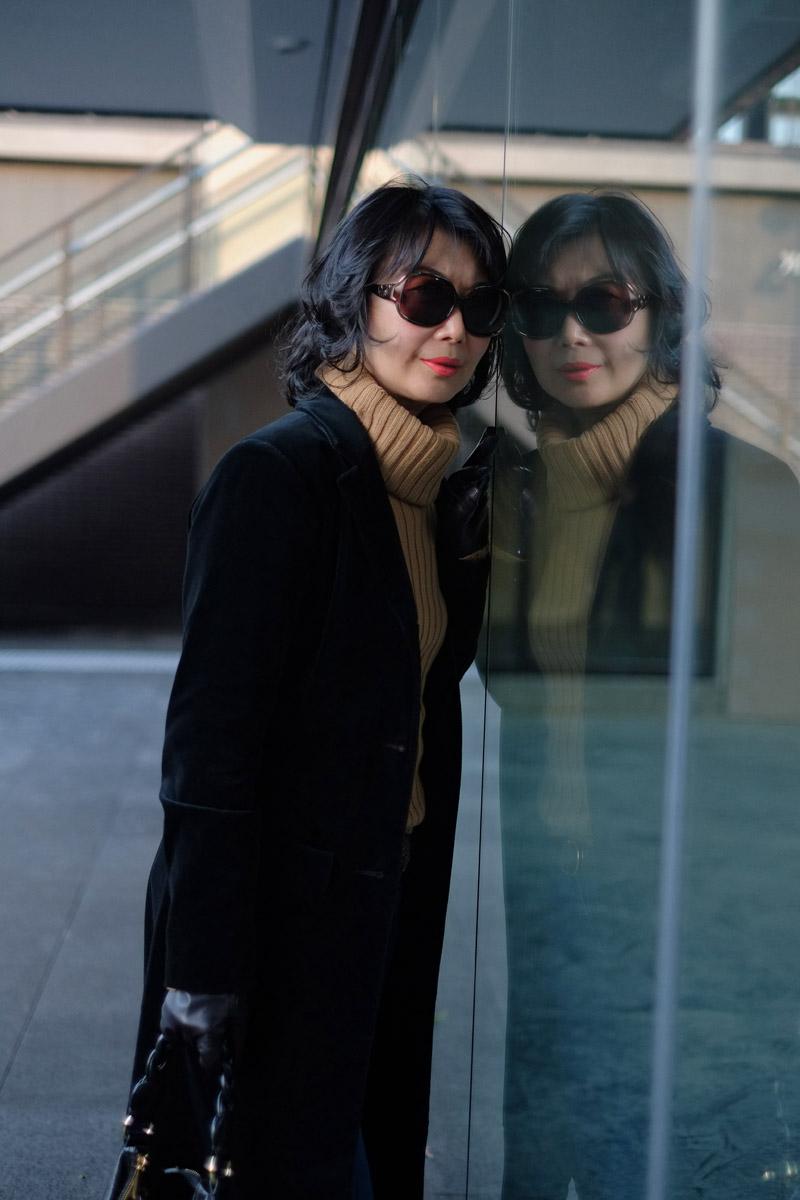 Street Fashion Sydney portrait by fashion photographer Kent Johnson.